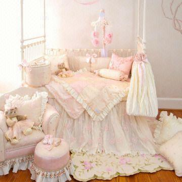 china pink little princess baby crib bedding set