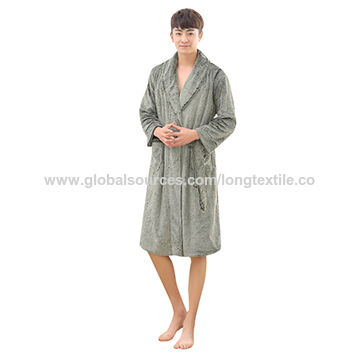 China Double-sided Plush Customized Made Homewear Faux Fur Bathrobes ... d6c665967