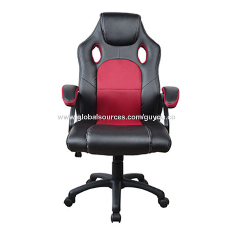 China Guyou Y 2706 Mini Wine Red Leather Swivel Gaming Racing Office Desk Chair