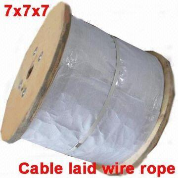 Cable Laid Steel wire rope RR-W-410,7X7X19 Galvanized, preformed to ...