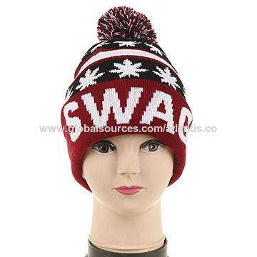 7814e1f2e6b China Pom pom adult beanie hat