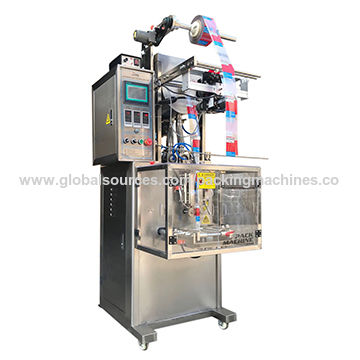 China Automatic liquid pouch packing machine price, small