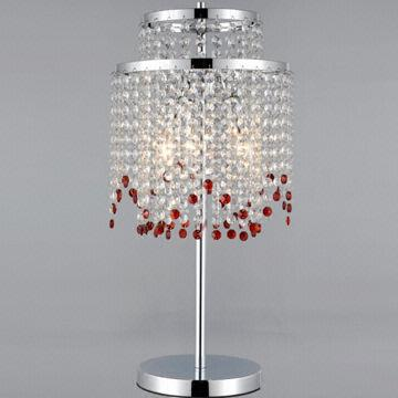 New Modern Red K9 Crystal Chandelier Table Lamps Made Of