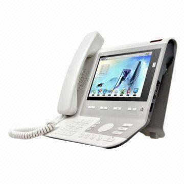 Touch Screen Video IP Phone with Android OS, 7-inch Digital LCD and
