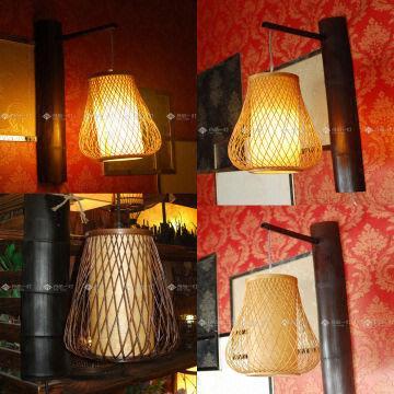 Taiwan Anese Chinese Style Wall Hanging Lamp Night Light Bamboo