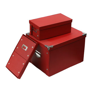 ... China Cardboard Folding Storage Box, Made Of Eco Friendly Rigid Paper  Board And Fancy