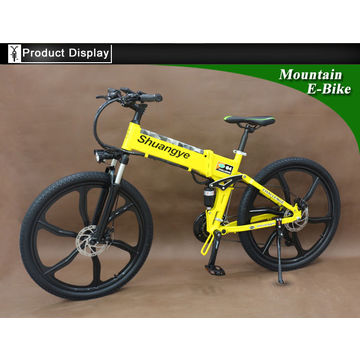 China Magnesium Wheel 27 Speed Foldable Electric Bike 26 Inch with Motor Power 350w
