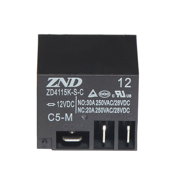 China ZD4115K(T91) PCB Relay with 12V 30A 5 Pins