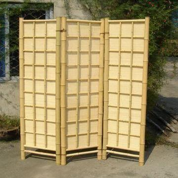 Natural bamboo folding screen panel room divider Global Sources