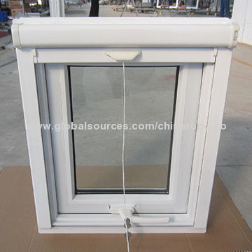 pvc awning window with retractable screen handle with key global