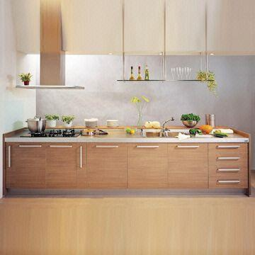 MFC Kitchen Cabinet with E1 Melamine Faced Chipboard, Customized ...