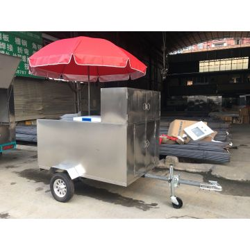 New Stainless Steel Mobile Food Cart Catering Trailer