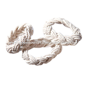 3f635e013d17 Pulsera hecha a mano del nudo del marinero del algodón