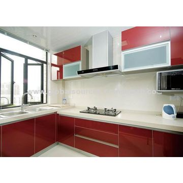 China High Gloss Acrylic Kitchen Cabinet Door And Apartment Melamine