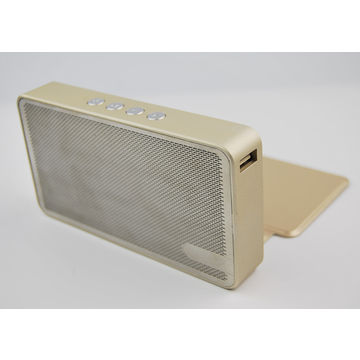 China Wireless Bluetooth Speaker, 5,000mAh Power Bank, 6W Power, Microphone, Metal Housing, with TF Card