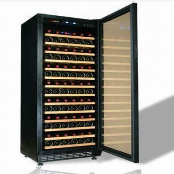 Control China 270l Compressor Wine Cooler 128 Bottles Air Cooling System Humidity