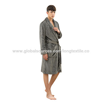 China Double-Sided Plush Customized Made Homewear Faux Fur Bathrobes ... 8457bf20a