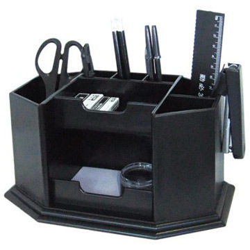 Modern Desk Organizers 2013 modern black plastic desk organizer without office