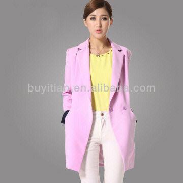 2014 Fashion Design Women Trench Coat Women Ladies Coats Global Sources
