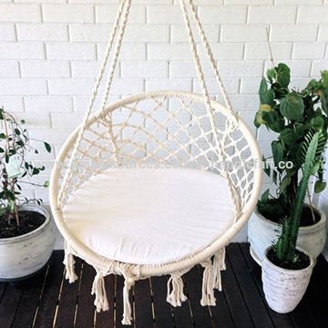 Superior India Handmade Macrame Hammock Chair Cotton Woven Hammock Chair Rope Chair  ...