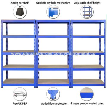 china boltless heavy duty mdf warehouse 5 tiers racking from qingdao