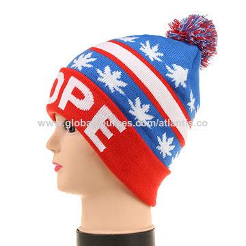 15c2dc0f33fc China Jacquard design logo acrylic beanie hat on Global Sources