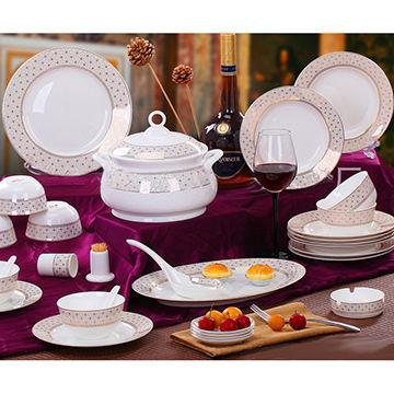 ... China Fine Bone China 56-piece Dinnerware Set  sc 1 st  Global Sources & Fine Bone China 56-piece Dinnerware Set Embellished with Gold Leaf ...