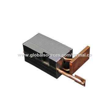 Small Power Aluminum Fin Copper Pipe Heatsink for Projector