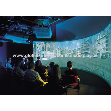 china large customized curved projection screen with different fov for simulation