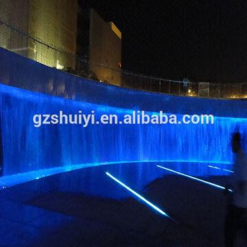 outdoor rgb led light decorative wall fountain global sources