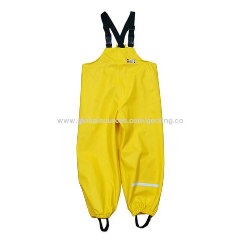 China Boys' rainwear, Kids' 100%PU rain bib pants, waterproof soft  comfortable, ODM/OEMs, fty direct sale on Global Sources