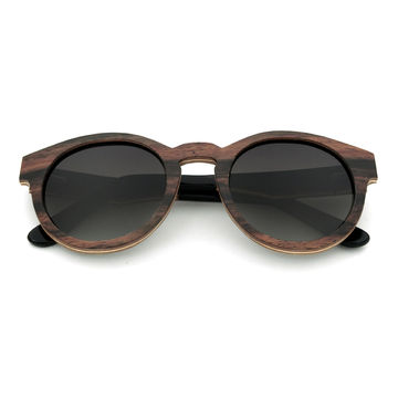 China 2017 new arrival wooden veneer sunglasses, made in China