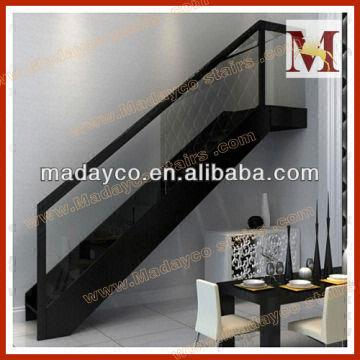 Wooden handrails for indoor stairs stairs designs indoor - Glass and wood railing design ...