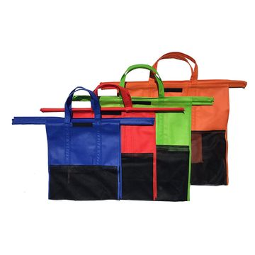 China Shopping Cart Trolley Bags, 4 Reusable Grocery Bags, Easy to Use and Heavy-duty