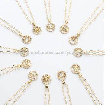 Zodiac Sign Charm Necklace