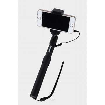 China 2014 extendable handheld cable selfie stick monopod for mobile phone
