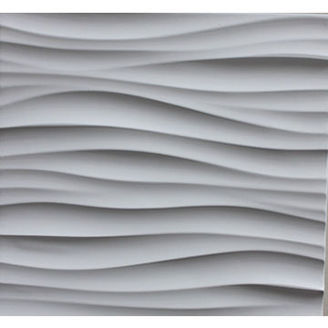 China Leather Surface Mdf Wave Wall Panels