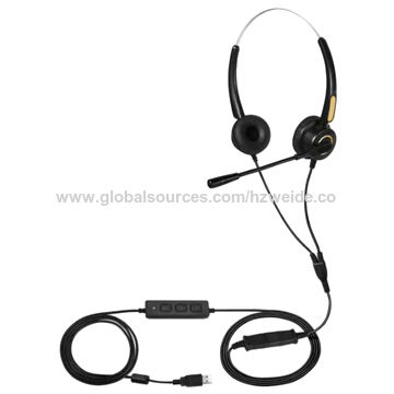 2e4e7cf9c0a China Hands-free Call Center Noise Cancelling Corded Binaural Headset with  Mic for Phone/