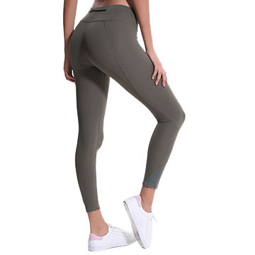 8eafd7cc83935 China Women's sports pants ladies fitness solid yoga pants leggings with  back pocket for women ...