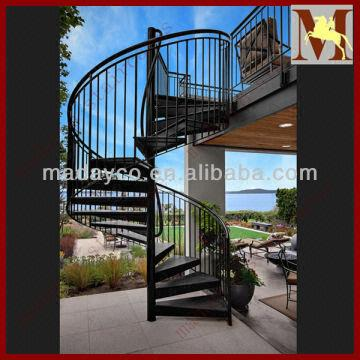 Merveilleux Led Deck Steel Exterior Spiral Staircase China Led Deck Steel Exterior  Spiral Staircase