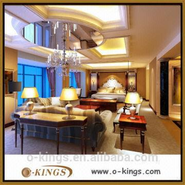 China Expensive Royal Furniture Bedroom Set Setbirch Wood MDF Material Environment Oil Pai