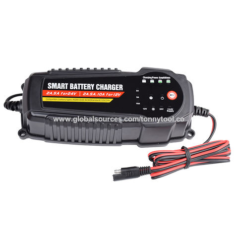 detailed look 7b190 72912 China Waterproof design 2A 5A 10A automatic car battery charger 12V ...