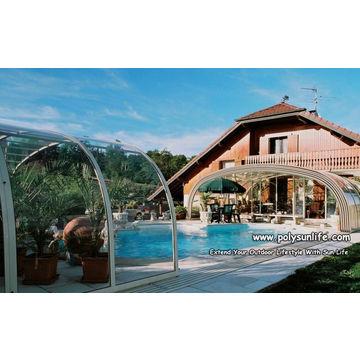 High Retractable Swimming Pool Cover Enclosure China High Retractable  Swimming Pool Cover Enclosure