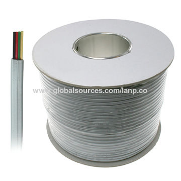 China Cat3 rj11 4 wire telephone cable on Global Sources