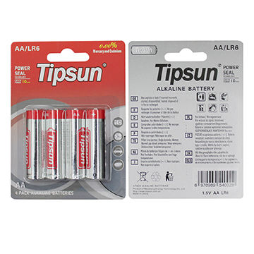 Toys Remote Control and Other Household Appliance High Energy LR03 Dry Batteries for Flashlight Tipsun AAA 1.5V Alkaline Batteries-Pack of 12