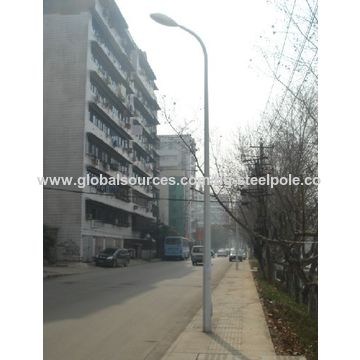 China 15m powder coated street lighting poles, Q235, for outdoor lighting