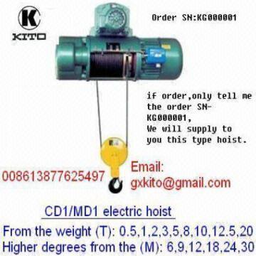 eletric wirerope hoist of kito | Global Sources