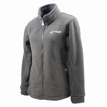 China Dark grey women's polar fleece jackets without hood/full zip ...
