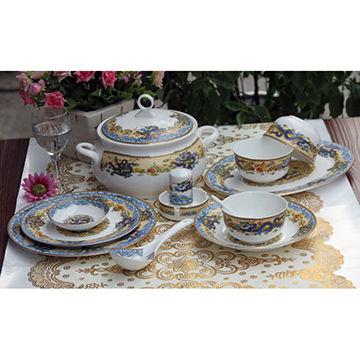 ... China Fine Bone China 56-piece Dinnerware Set  sc 1 st  Global Sources & Fine Bone China 56-piece Dinnerware Set in Dragon Motif | Global Sources