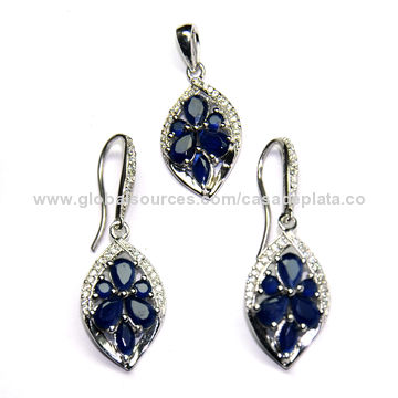 Sets Loyal Very Pretty 925 Silver Set Necklace And Earrings With Rhinestones Lovely Costume Jewellery